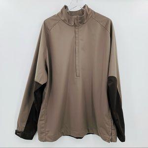 Nike Golf Taupe Dark Brown 3/4 Zip Men's Pullover